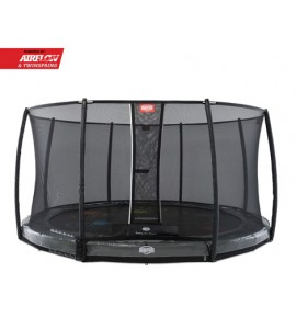 Berg Inground Elite 430 Levels + Sicherheitsnetz Deluxe, rund, Trampolin
