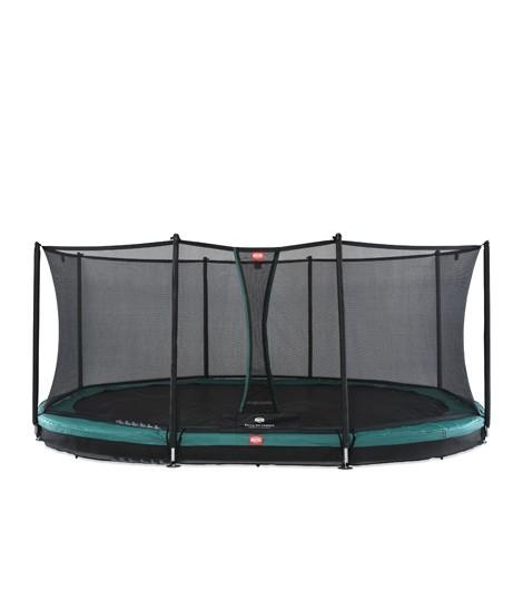 BERG Grand Favorit Inground 520 + Sicherheitsnetz Comfort, oval, Trampolin