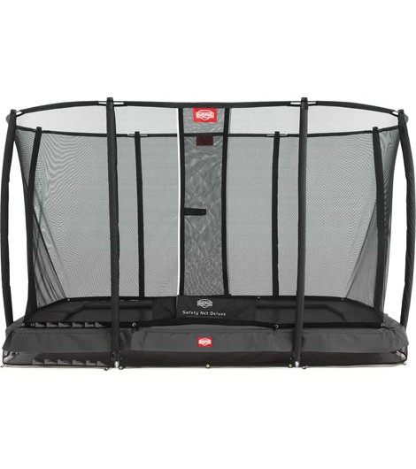 BERG Ultim Champion Inground 330 + Sicherheitsnetz Deluxe, eckig, Trampolin