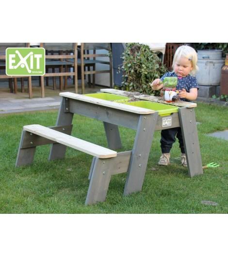 EXIT Aksent Sand/Wasser/Picknicktisch L (1 Bank) (FSC 100%)