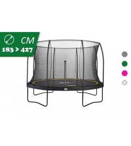 Salta Comfort Edition, rund, mit Netz, Trampolin