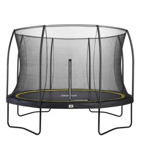 Salta Comfort Edition Ø366, schwarz, rund, mit Netz, Trampolin