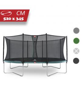 BERG Grand Favorit 520x345 + Sicherheitsnetz Comfort, oval, Trampolin