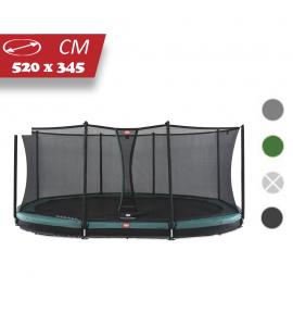 BERG Grand Favorit Inground 520x345 + Sicherheitsnetz Comfort, oval, Trampolin