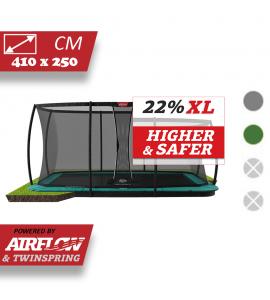 BERG Ultim Champion Flatground 410x250 + Sicherheitsnetz DLX XL
