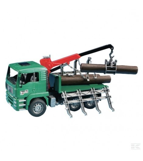 MAN Holztransport-Lkw mit Lade