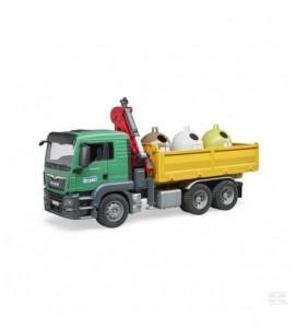 MAN TGS Lkw mit 3 Glass-Recycl