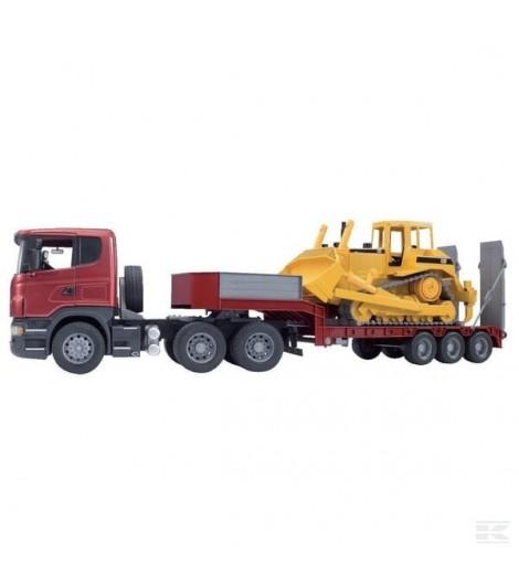 Scania Lkw m. Tiefl. u. Bulld.