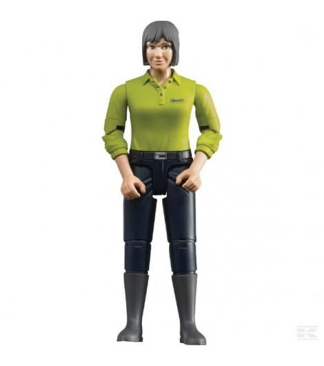 Frau mit dunklen Hosen