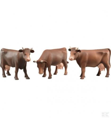 Kuh Set, braun (16 Stück)