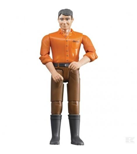 Mann mit brauner Hose