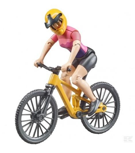 Mountainbike mit Fahradfahrer