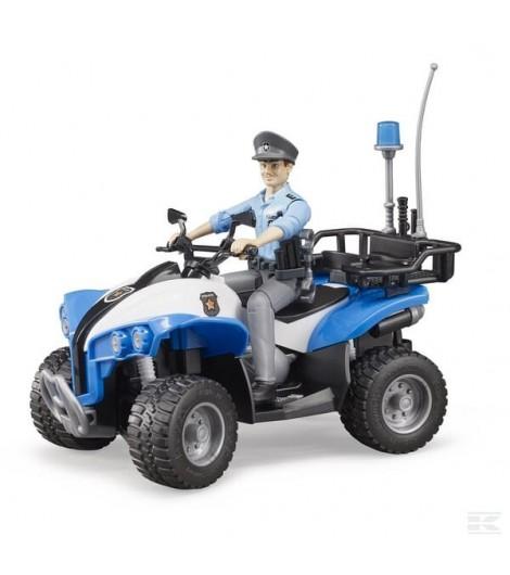 Polizei-Quad mit Polizistin